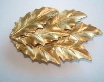 Fur Clip  Jewelry Gold Tone