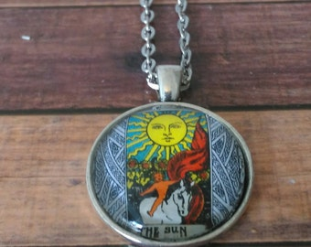 Tarot Card Necklace -- The Sun
