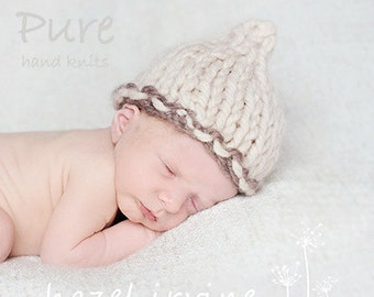 KNITTING PATTERN baby hats 'little poppet' pixie hat - newborn to 5 years