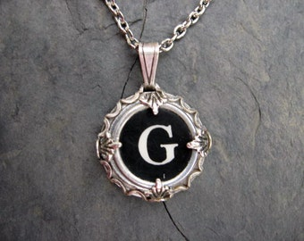 Typewriter Key Jewelry - Typewriter Charm - Letter G