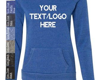 Custom Made Alternative - Eco-Fleece Women's Maniac Sweatshirt - 9582 Vinyl or Glitter Print  All Colors & Sizes