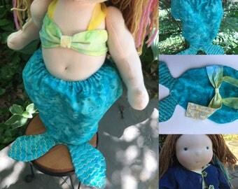 Custom Doll Mermaid Outfits Waldorf Mermaid Doll Clothes