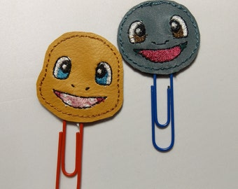 Charmander and Squirtle  Planner Clips / Bookmarks  Set of 2