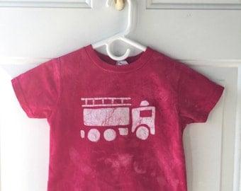Kids Fire Truck Shirt, Red Fire Truck Shirt, Boys Fire Truck Shirt, Fire Engine Shirt, Kids Truck Shirt, Girls Fire Truck Shirt (3T)