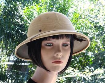Vintage HAWLEY Pith HELMET, Safari Hat, Stamped, Numbered and Original. 1938-1950