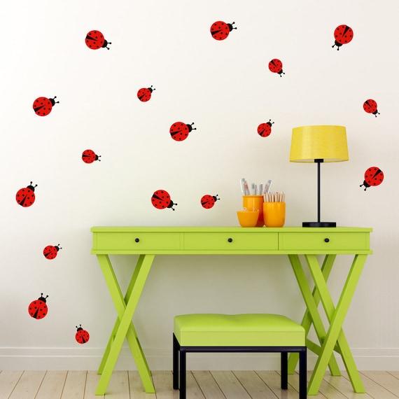 Ladybug Wall Decal - Set of 17 ladybugs - Ladybirds Wall Sticker