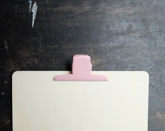 Large Binder Clips, soft pink paper clip