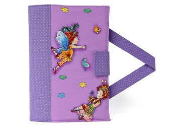 Fairy Crayon Artist Case with option to add a name, Valentine gift, Crayon holder, Crayon wallet, Crayons and paper included
