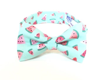 Watermelon bow tie watermelon bowtie boys bowtie Boys Bowties Watermelon Print watermelon theme Watercolors mint green aqua blue pink coral