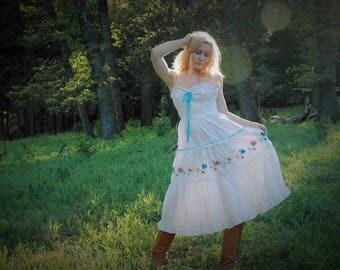 Mexican Dress / Gypsy Dress / Boho Dress / Sun Dress / Summer Dress / Beach Dress / Cotton Dress / Dress For Women