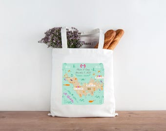 St Barths Wedding Tote - Sets of 10, 15, 20, 25, 50, 100 or 150 (Use this Tote with your SB Locations within this map)