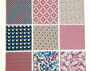 COBBLER, 26 Assorted 7 inch Fabric Squares. All Denyse Schmidt fabrics