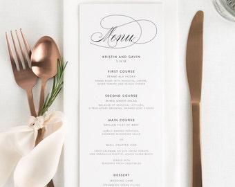 Script Elegance Dinner Menus - Deposit