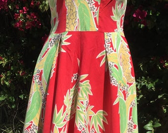 1940s Tropical Hawaiian Dress
