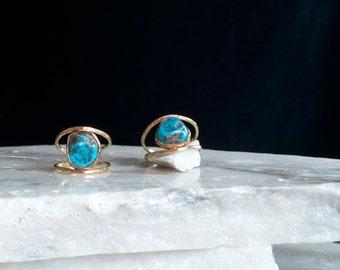 Kingman Turquoise Winky Ring