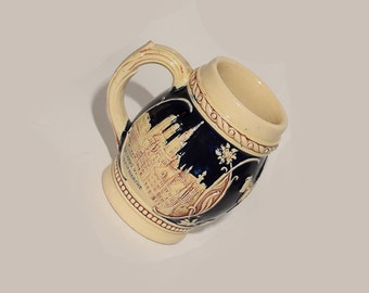 Reduced 50% Vintage Western Germany Beer Mug / Stein / Hofbrauhaus / Post World War II