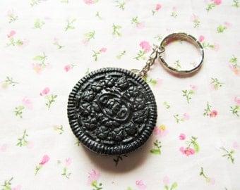 Realistic Oreo Cookie Keychain, Kawaii Keychain, Cute Keychain, Sweet Lolita, Food Keychain, Polymer Clay, Gift Idea