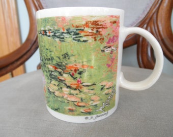 Vintage  Chaleur Mug with Depiction of Monet Gardens by Burrows, Master Impressionists