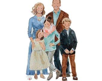 Custom Family Portrait - Custom Watercolor Portrait - Custom Wedding Portrait