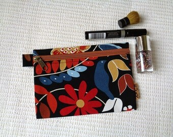 Makeup cosmetic bag clutch zipper pouch case Christmas gift for her