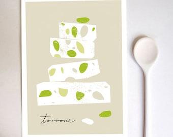 Torrone Al Pistacchio  Art Print  - high quality fine art print