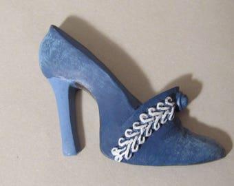 Elegant Blue Shoe Magnet
