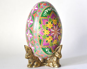 Gift for Wife Pink and Green Pysanka egg Christmas gifts for someone who has everything Easter eggs