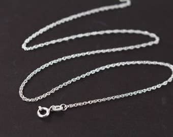 Sterling Silver Necklace , 5 Finished Necklaces Rope Chain 925 Sterling Silver 16 18 20 22 24 inches  at 60% Off Retail , Wholesale Chains