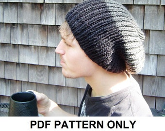 Knitting Pattern - Boys Slouchy Hat Pattern - the MATT Slouchy (Baby, Toddler, Child & Adult sizes incl'd)