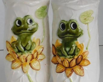 Neil the Frog Salt and Pepper Shaker set from Sears made in Japan