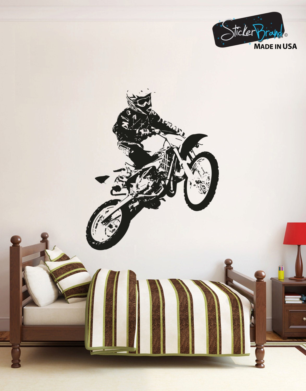 Vinyl mural autocollant autocollant motocross osaa194b for Autocollant mural francais