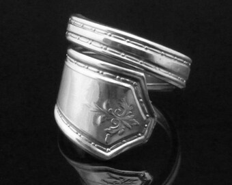 Recycled Art Deco Spoon Ring, Oakland 1929