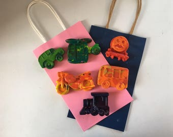 Animal Crayons - Car Crayon - Train -  Truck Crayons - Kids Party Favor - Animal Party Favors -  Kids  Birthday Favors