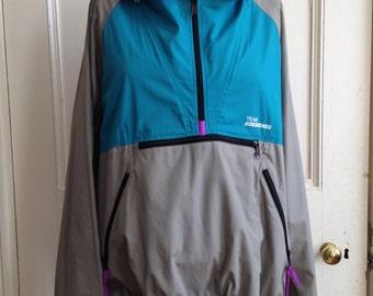 Rossignol Jacket Womens Size Large Vintage Windbreaker Sz L Lightweight Track Jacket 1980s
