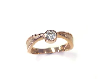 Flying Gold Wizard Ball Geeky Engagement Ring - 14kt Rose Gold - Pop Culture - Nerdy Jewelry - Book Lovers