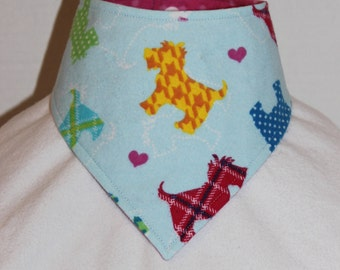 Reversible Scottie / Dot Bandana Bib