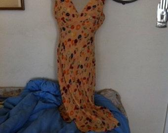 Vintage Diane von Furstenberg Silk Dress Size 4/6