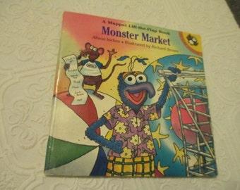 MONSTER MARKET Gonzo Vintage Lift-the-flap Book, 1997