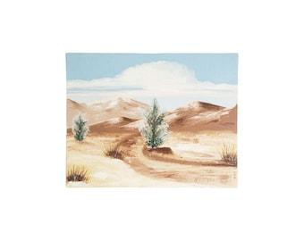 Vintage Oil Painting / Desert Landscape / 14x11