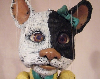 Darla the French Bulldog  one-of-a-kind Marionette