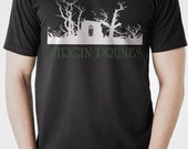 Virgin Prunes  tee  T shirt screen print short sleeve  black shirt cotton