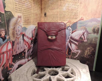 Mythical Beast Book (Burgundy leather with Tan  eye)