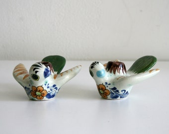 Two Mexican Bird Candlestick Holders
