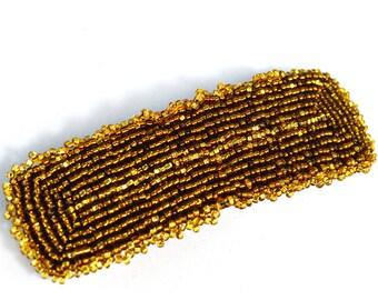 Hair Clip Gold - Brown - Hair Clip - 4 Inches
