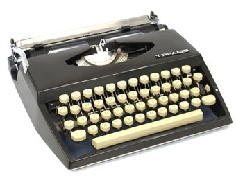 Vintage Cursive Typewriter Adler Tippa Manual Typewriter: Fully Serviced Working Typewriter