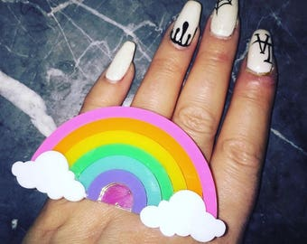 Rainbow dreams Ring (made to order)