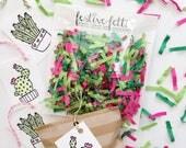 Cactus Confetti / 4 Cactus Gift Tags / Cinco De Mayo / Taco Party / Cactus Party / Cactus Party Favors / Confetti / Desert Wedding Favor