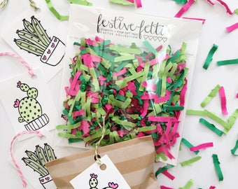 Cactus Confetti / Cactus Gift Tags / Cinco De Mayo / Taco Party / Cactus Party Decor / Cactus Party Favors / Confetti / Desert Wedding Favor