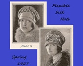 25% Off Sale - Vintage 1920's Millinery - Flexible Silk Hat Making Instructions - Spring 1927 Reproduction Fashion Service Pattern  download