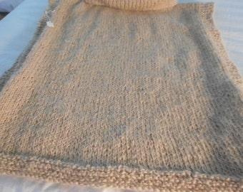 knitted over sweater, beige top warm beige coat